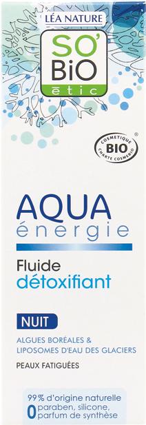 Fluide détoxifiant nuit, Aqua Energie
