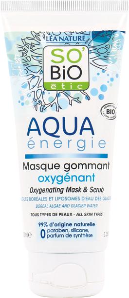 Masque gommant oxygénant, Aqua Energie