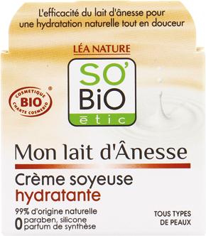 Crème soyeuse hydratante, au lait d'ânesse bio