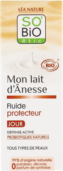 Fluide protecteur jour, au lait d'ânesse bio