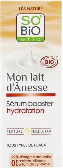 Sérum booster d'hydratation, au lait d'ânesse bio