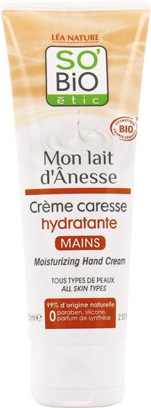 Crème caresse hydratante mains, au lait d'ânesse bio