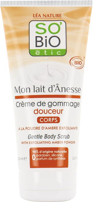 Crème de gommage douceur corps, au lait d'ânesse bio