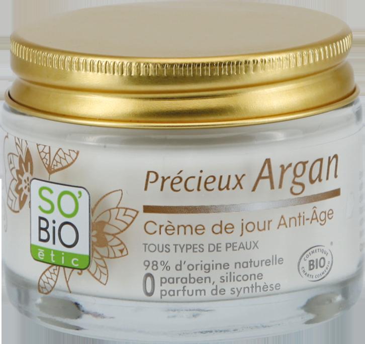 Crème de jour anti-âge, Précieux Argan