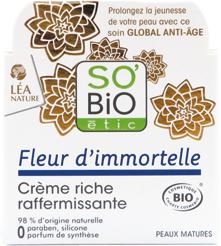 Crème riche raffermissante, Fleur d'immortelle bio