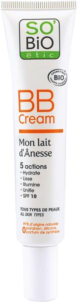 BB cream 5 actions, au lait d'ânesse bio