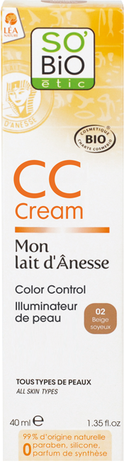 CC cream 5 actions, au lait d'ânesse bio