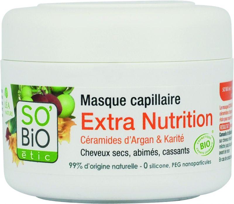 Masque capillaire Extra Nutrition, céramides d'argan et karité