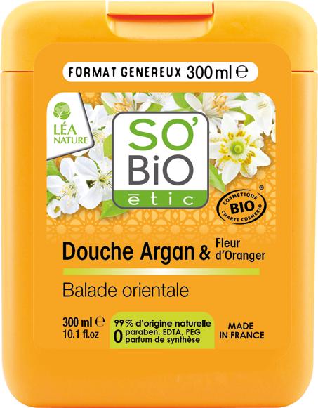 Douche crème nutrition satin, argan et fleur d'oranger