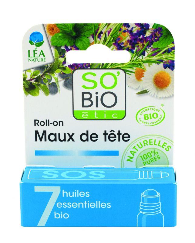 Roll-on SOS maux de tête, aux 7 huiles essentielles bio