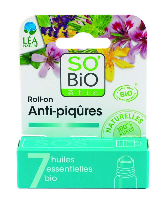 Roll-on SOS anti-piqûres, aux 7 huiles essentielles bio