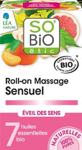 Roll-on massage sensuel éveil des sens, aux 7 huiles essentielles bio