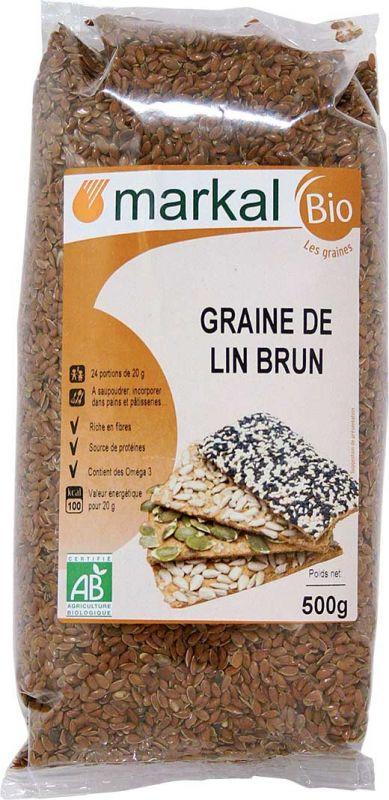 Graines de lin brun Markal