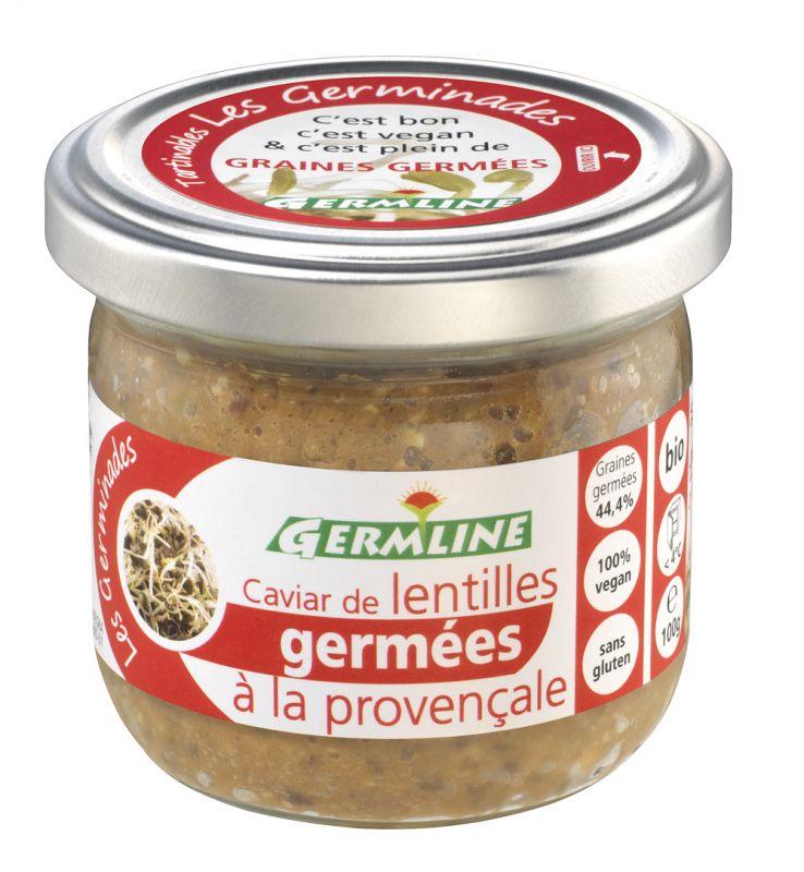 Caviar de lentilles germées à la Provençale