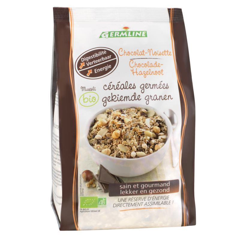 Mueslis de céréales germées Chocolat - Noisette