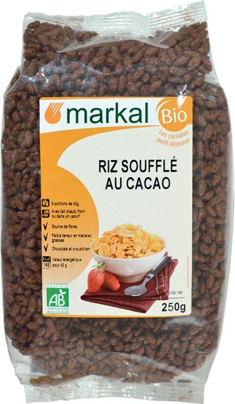 Riz soufflé au cacao Markal