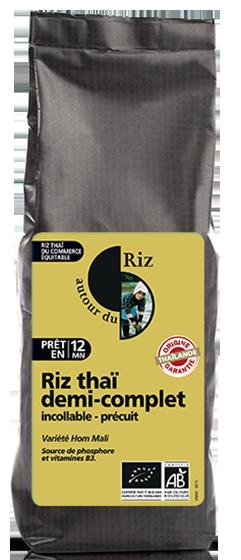 Riz thaï demi-complet étuvé cuisson rapide