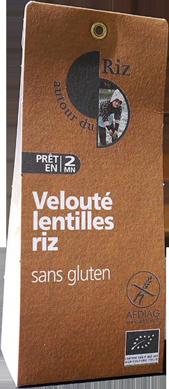 Velouté lentilles - riz