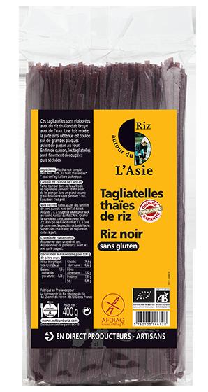 Tagliatelles thaïes de riz noir