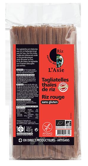Tagliatelles thaïes de riz rouge