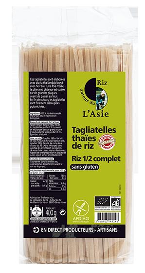 Tagliatelles thaïes de riz 1/2 complet