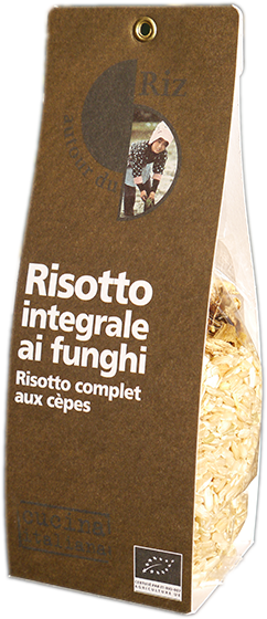 Risotto integrale ai funghi (Risotto complet aux cèpes)