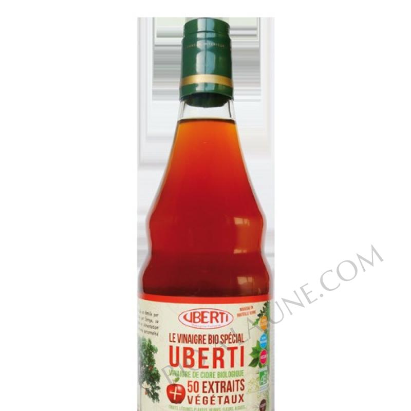 Vinaigre Uberti aux 50 extraits végétaux en bouteille verre