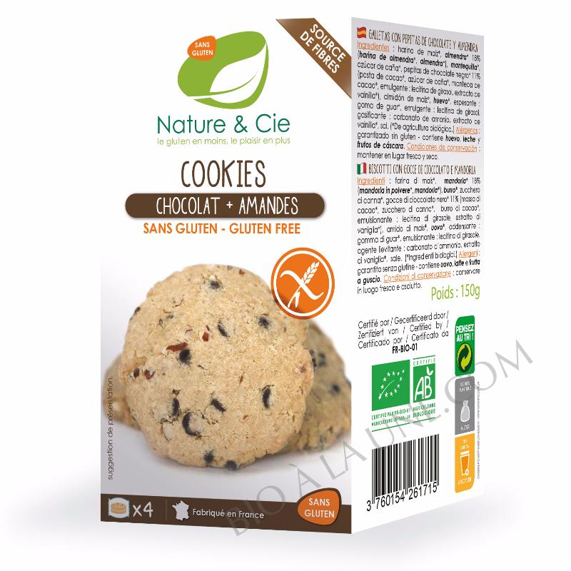 Cookies chocolat amande sans gluten