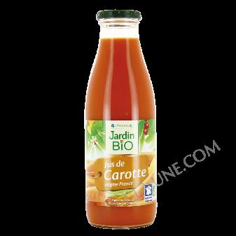 Bouteille de jus de carottes bio