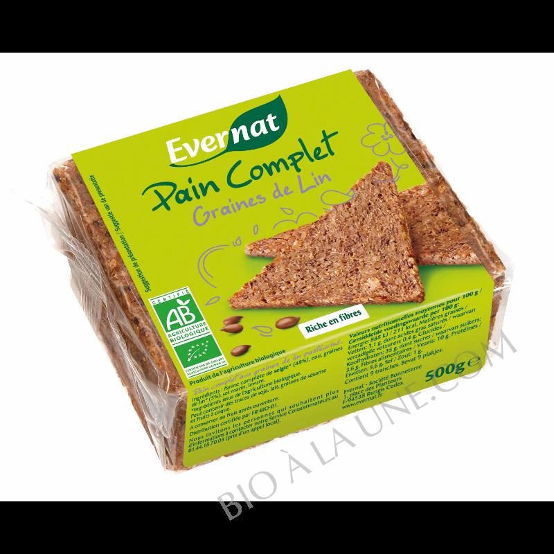 Pain complet aux graines de lin