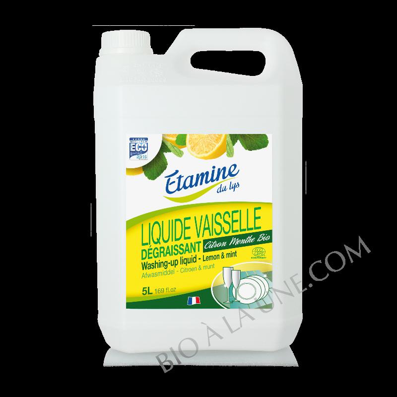 Liquide vaisselle citron-menthe 5L Etamine du lys