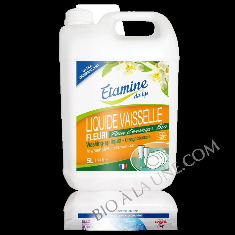 Liquide vaisselle fleur d'oranger 5L Etamine du lys