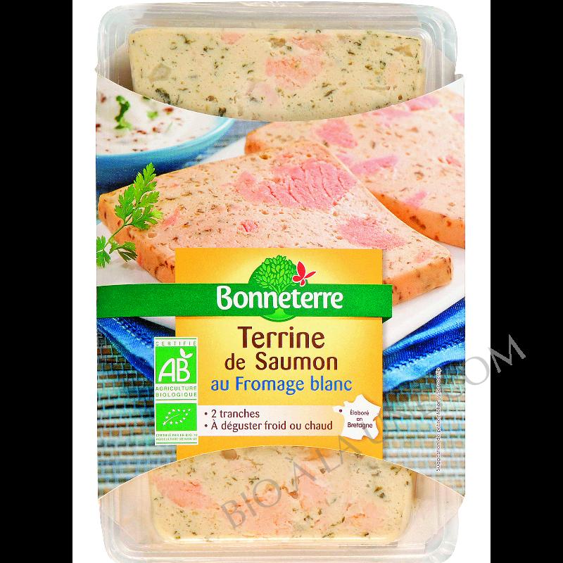 Terrine de saumon au fromage blanc bio Bonneterre