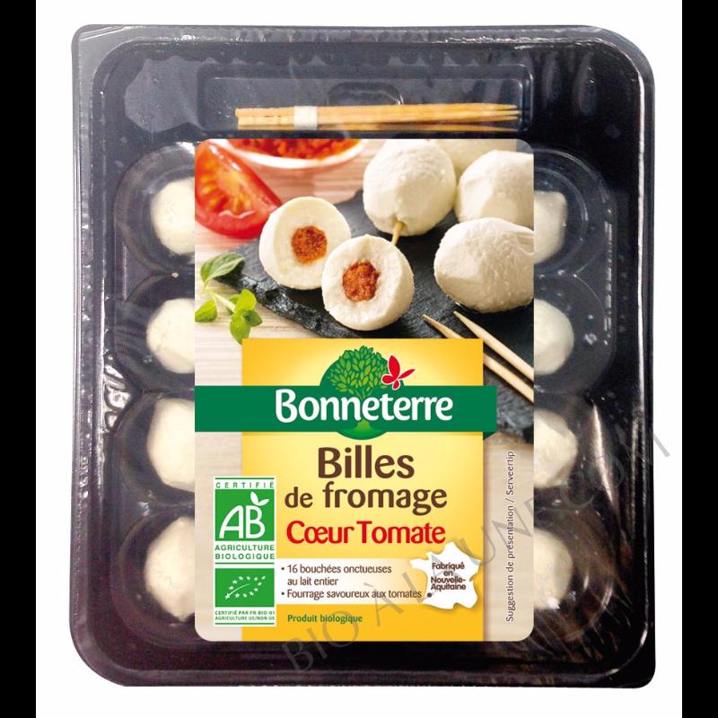 Billes de fromage coeur tomate bio Bonneterre