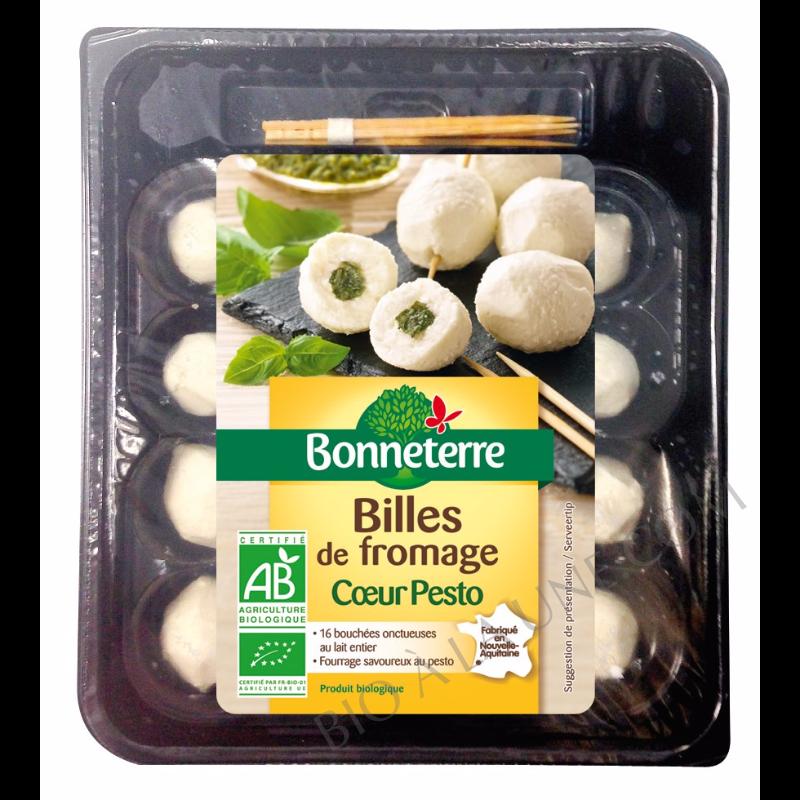 Billes de fromage coeur pesto bio Bonneterre