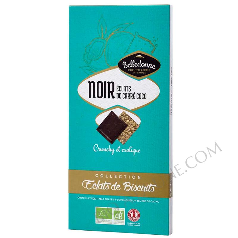 Tablette noir biscuits carré coco