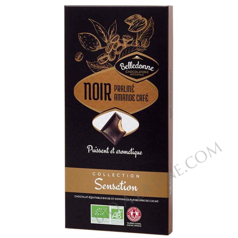 tablette noir praliné amande café