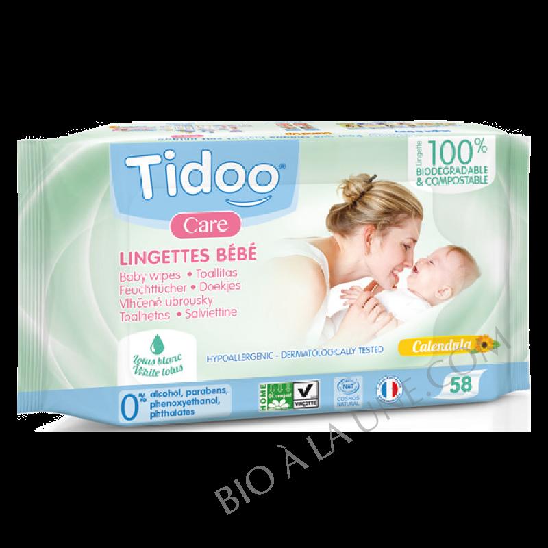 Lingettes bébé au Calendula bio parfumées x 58