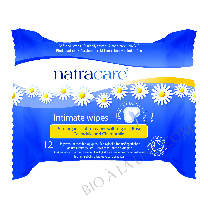 Lingettes Intimes Natracare