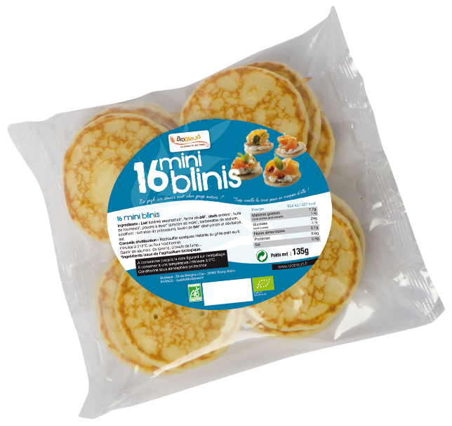 16 mini-blinis Biobleud