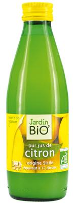 Pur jus de citron 25cl Jardin Bio