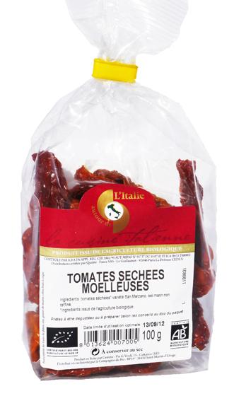Tomates séchées moelleuses
