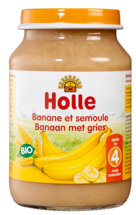 Petit pot banane avec semoule