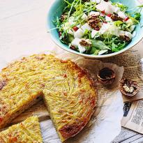 Tortilla de pommes de terre, salade d'endives