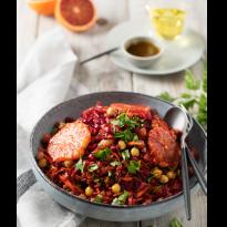 Salade de riz rouge vitaminée