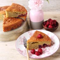 Gâteau au yaourt et aux framboises spécial Fête des Mères