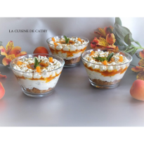 verrine mascarpone confiture d'abricots