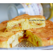 Gâteau moelleux à la confiture de mirabelle et blanc d'oeuf