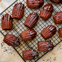 Madeleines amande chocolat véganes - Ecomil