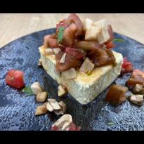 Tofu Nature au tartare de tomates et de champignons